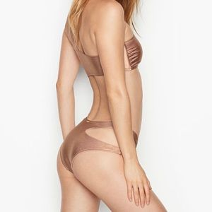 Victoria's Secret Rose Gold Asymmetric Bikini